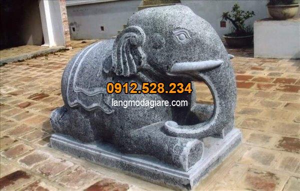 Mẫu tượng voi bằng đá đẹp giá rẻ, Tìm hiểu Ý nghĩa tượng voi đá trong phong thủy và cách đặt tượng voi