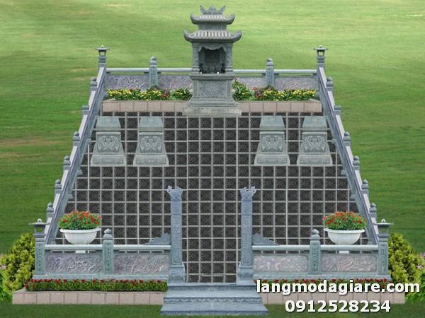 Khu nghĩa trang gia đình với thiết kế đơn giản