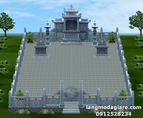 Thiết kế nghĩa trang gia đình với diện tích rộng