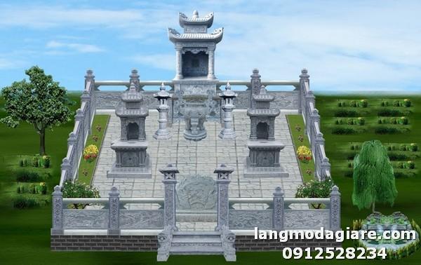 Mẫu bản vẽ thiết kế nghĩa trang gia đình đẹp, đơn giản