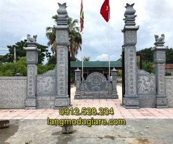 Tốp 6 hình ảnh cổng nhà thờ họ bằng đá xanh tự nhiên 01