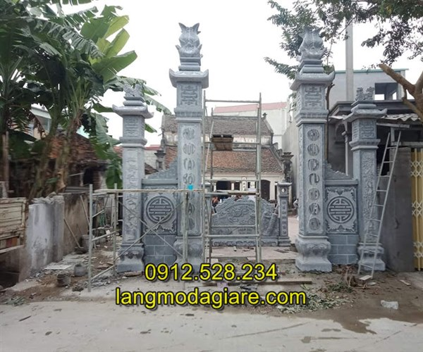Tốp 6 hình ảnh cổng nhà thờ họ bằng đá xanh tự nhiên 02