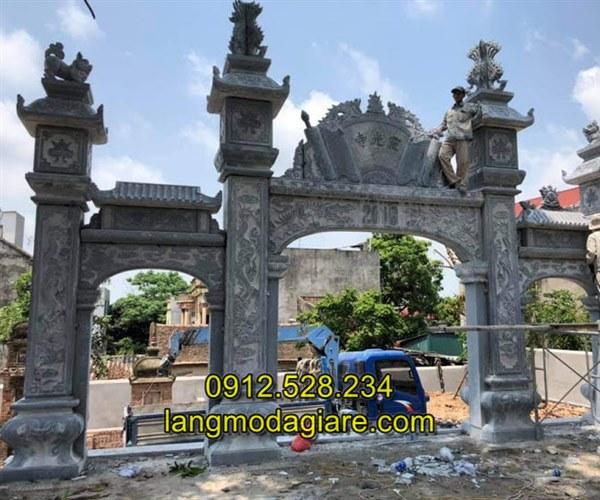Tốp 6 hình ảnh cổng nhà thờ họ bằng đá xanh tự nhiên 03