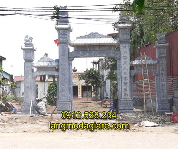 Tốp 6 hình ảnh cổng nhà thờ họ bằng đá xanh tự nhiên 04