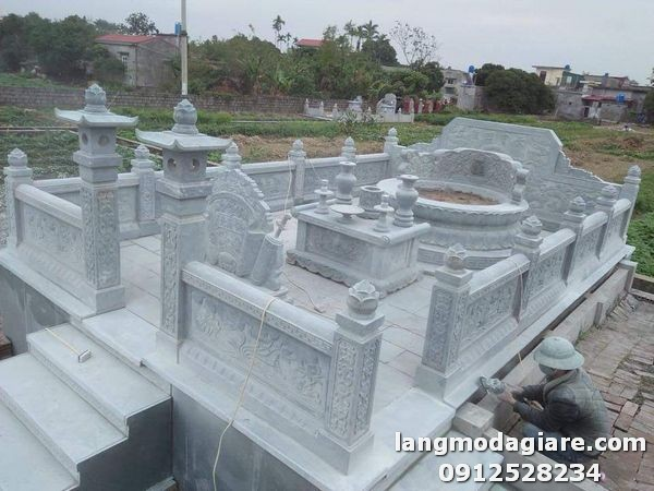 Chi tiết khu lăng mộ đá xanh đẹp tại Ninh Bình