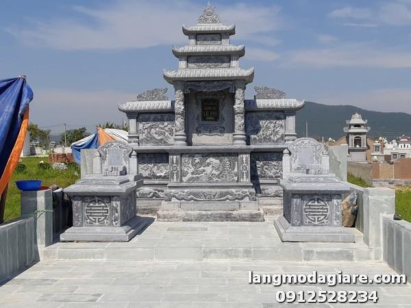 Thiết kế khu lăng mộ đá đẹp chuẩn phong thủy ở Lâm Đồng