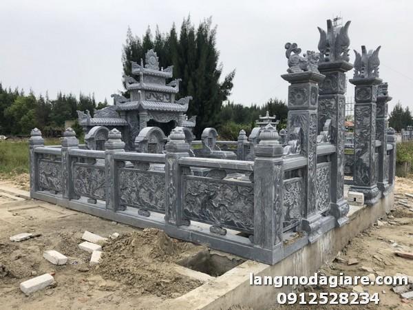 Mẫu lăng mộ đá xanh đen đẹp nhất Việt Nam tại Lâm Đồng
