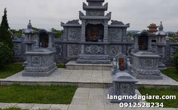 Mẫu lăng mộ đá thiết kế chuẩn phong thủy tại Ninh Bình