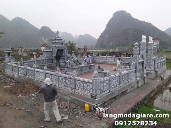 Lắp đặt, xây dựng khu lăng mộ đá cao cấp tại Ninh Bình