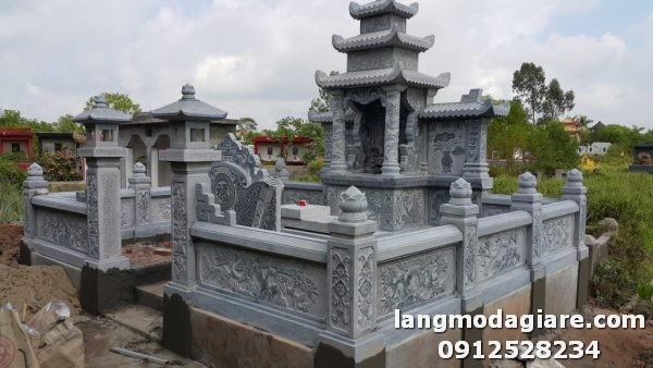 Mẫu lăng mộ đá đẹp tại Ninh Thuận với diện tích hạn chế