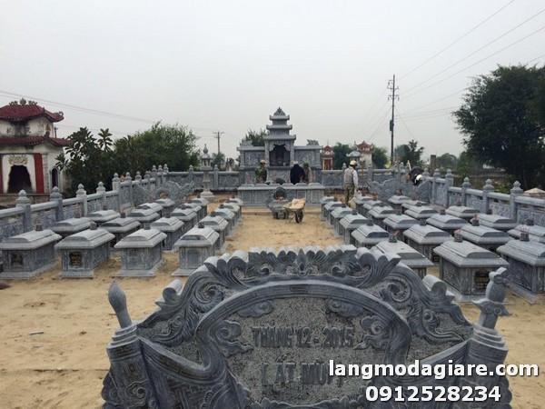 Khu lăng mộ được làm từ đá xanh cao cấp tại Thanh Hóa