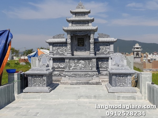 Khu lăng mộ đá thiết kế kích thước chuẩn tại Thanh Hóa