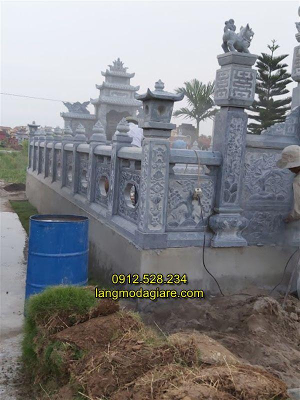 Làm khu lăng mộ đá tại Thanh Miện Hải Dương,  lan can đá khu lăng mộ Hải Dương