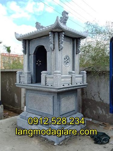 Mẫu am thờ ngoài trời bằng đá xanh nguyên khối
