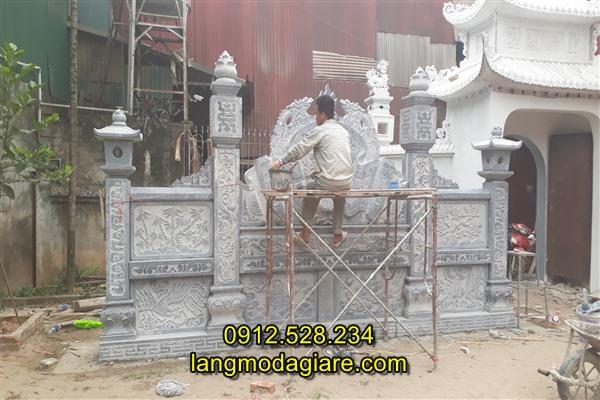 Mẫu bình phong nhà thờ họ bằng đá, Lắp đặt cuốn thư đá nhà thờ họ tại Hà Nội