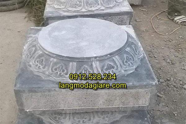 Mẫu đá kê chân cột nhà gỗ trạm khắc hoa văn tinh xảo