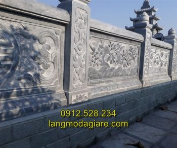 Mẫu hàng rào đá khu lăng mộ thiết kế đẹp nhất hiện nay