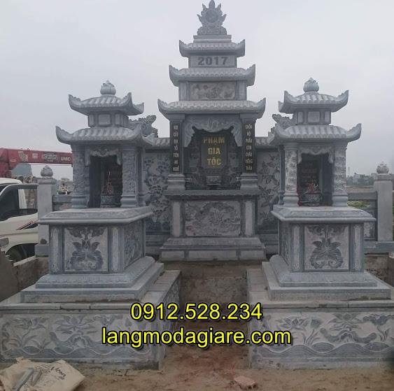 Mẫu lăng mộ đẹp, Nhận lắp đặt thi công mộ đá tại Quảng Bình