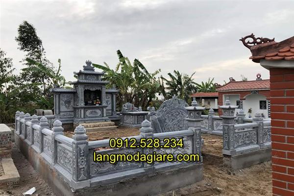 Mẫu lăng mộ tổ bằng đá xanh tự nhiên