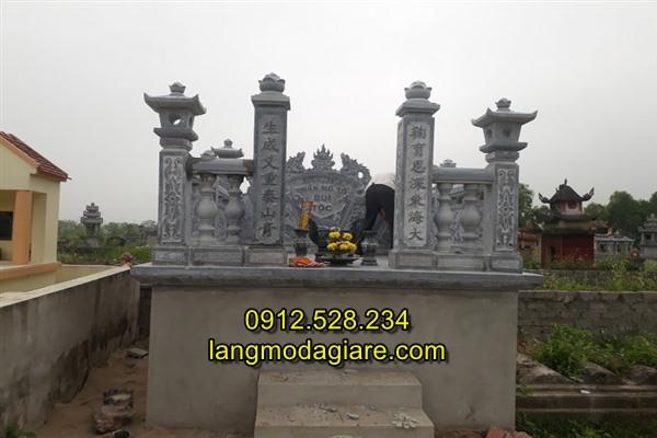 Mẫu mộ tổ đá đẹp kích thước chuẩn phong thủy