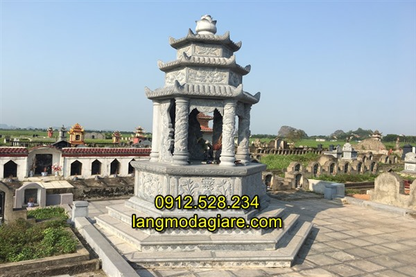 Mẫu mộ tổ đá xây đẹp chế tác tại Ninh Vân