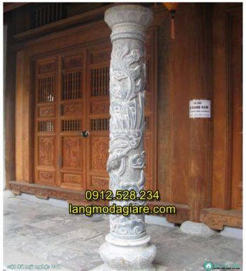 Cột hiên nhà bằng đá xanh nguyên khối 04