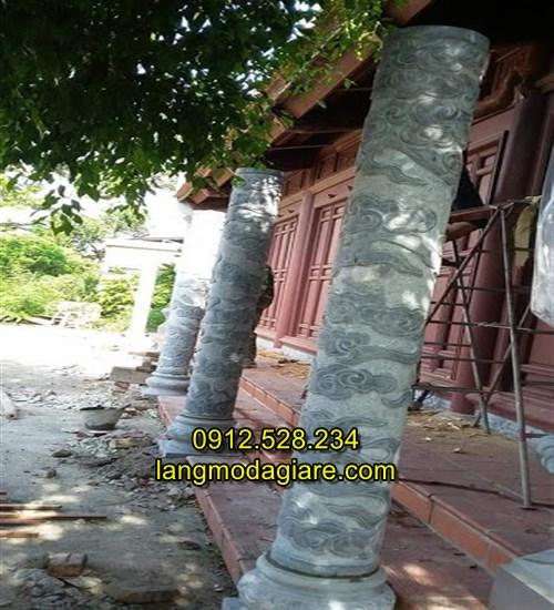 Cột hiên nhà bằng đá xanh nguyên khối 05