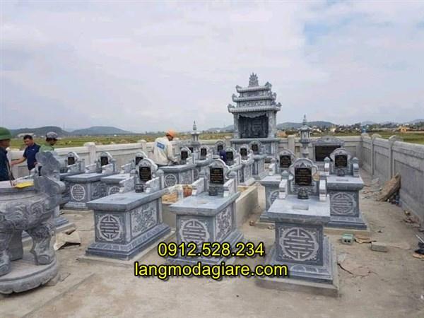 Khu tháp mộ gia đình bằng đá xanh chất lượng tốt