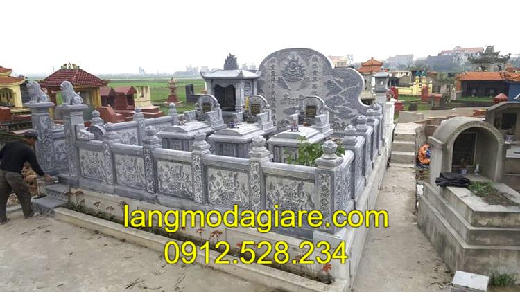 Giá thành lăng mộ đá mới nhất