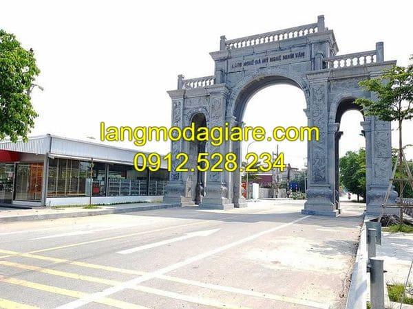 Mẫu cổng làng đá đẹp nhất Ninh Vân