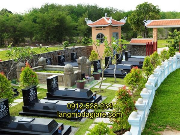 Lắp đặt khu mộ đá cao cấp hiện đại