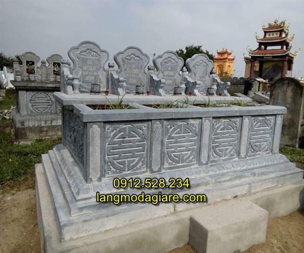 Mẫu ba bốn ngôi mộ bằng đá xây đẹp