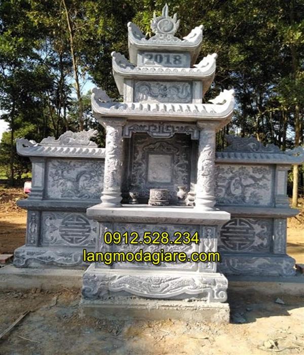 lăng mộ đá đẹp đơn giản chế tác tại Ninh Vân