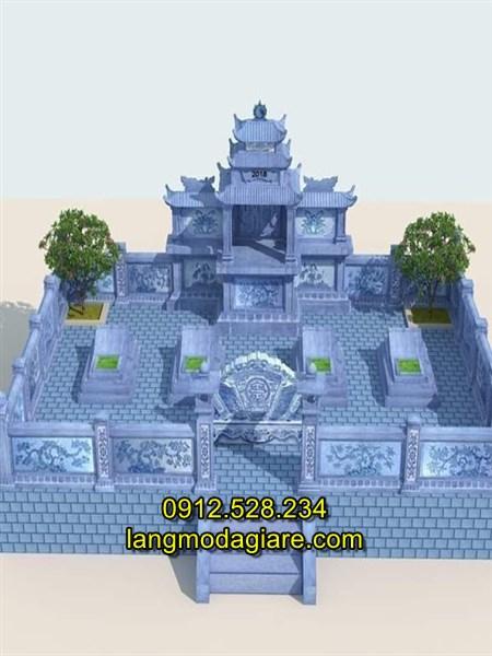 Thiết kế khu lăng mộ đá cao cấp hiện đại