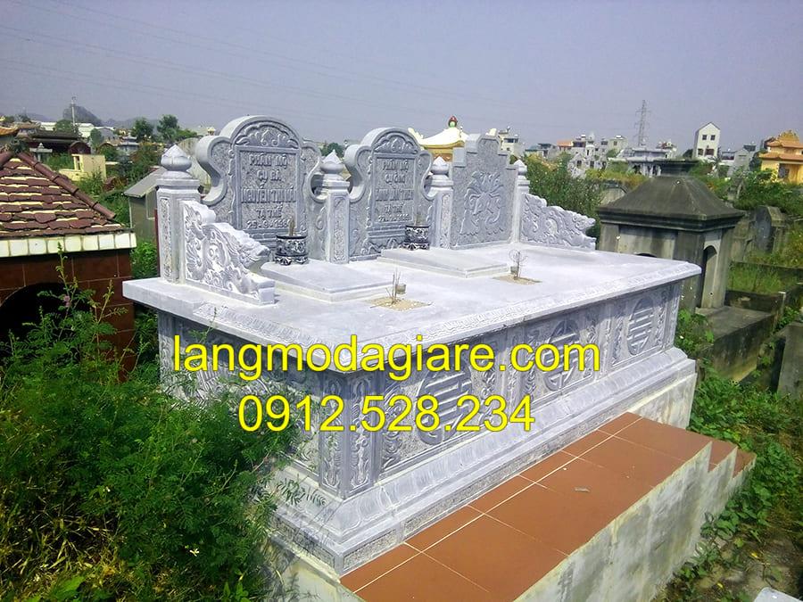 Địa chỉ thiết kế lắp đặt mộ đá liền kề tại Ninh Vân