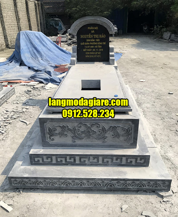 Địa chỉ thiết kế mộ tam cấp bằng đá đẹp tại Ninh Vân
