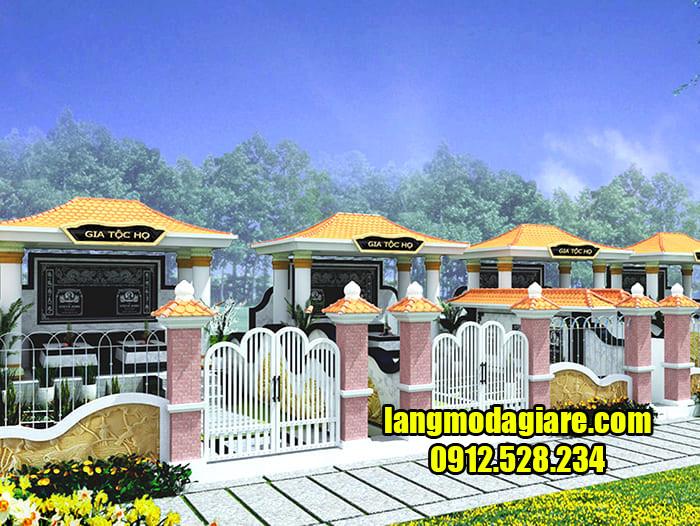 Mẫu khu nhà mồ đẹp ở Cà Mau