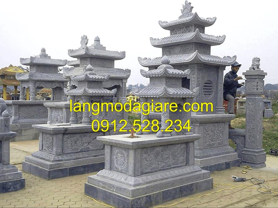 Mẫu lăng mộ đá được ưa chuộng tại Ninh Vân