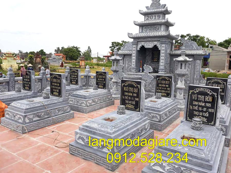 Những mẫu lăng mộ đá khối đang được ưa chuộng tại Ninh Vân