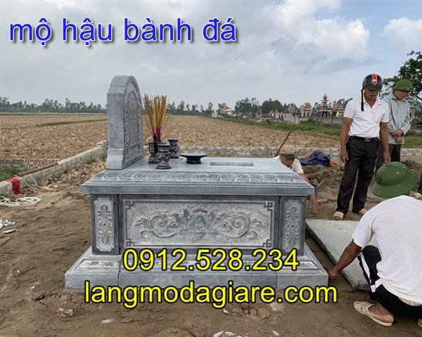 Mặt hông mộ hậu bành trạm khắc hoa sen