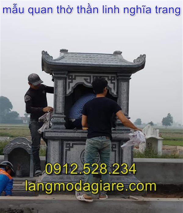 Mẫu miếu thờ thần linh khu nghĩa trang