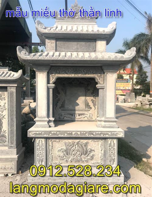 Xây miếu thờ thần linh khu lăng mộ bằng đá