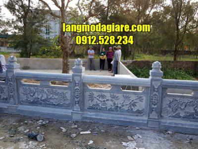 Mẫu hàng rào bằng đá xanh cao cấp