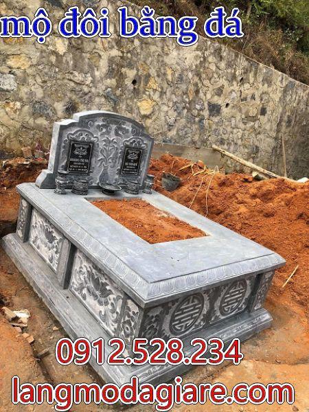 mẫu mộ đá dành cho 2 người