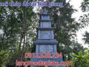 Mẫu mộ tháp đá dảnh cho người theo phật