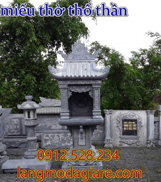 miếu thờ thổ thần bằng đá