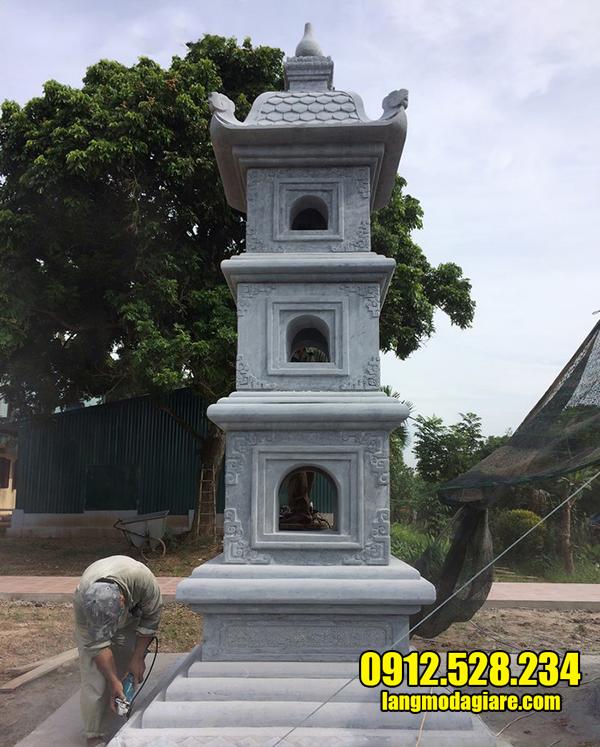 mẫu mộ tháp bằng đá xanh đẹp