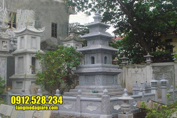 mẫu mộ tháp bằng đá xanh