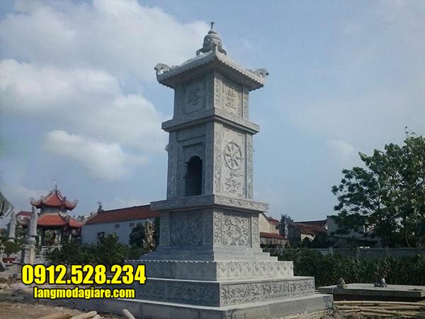 mẫu mộ tháp bằng đá