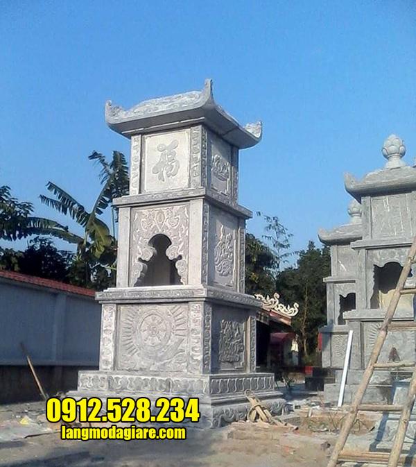 mẫu mộ tháp phật giáo bằng đá